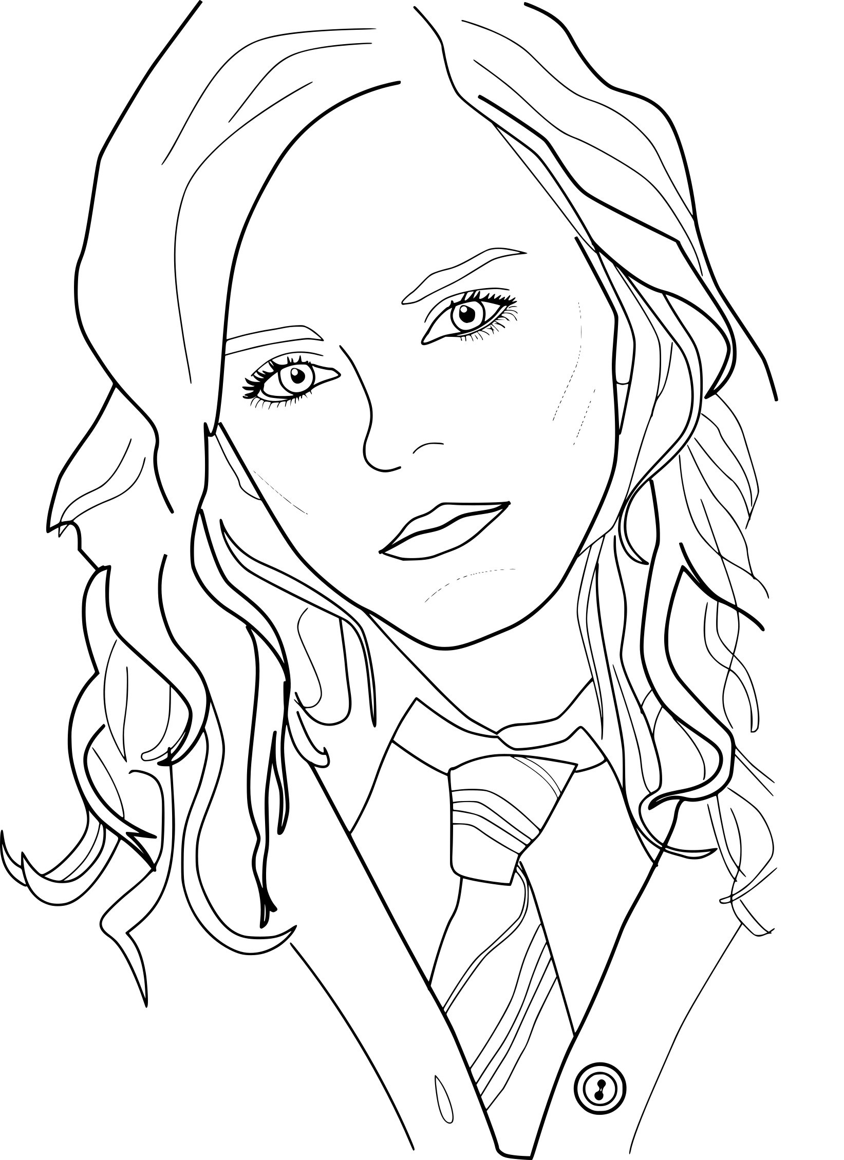 Hermione Granger Coloring Pages  Hermione Free Coloring Pages