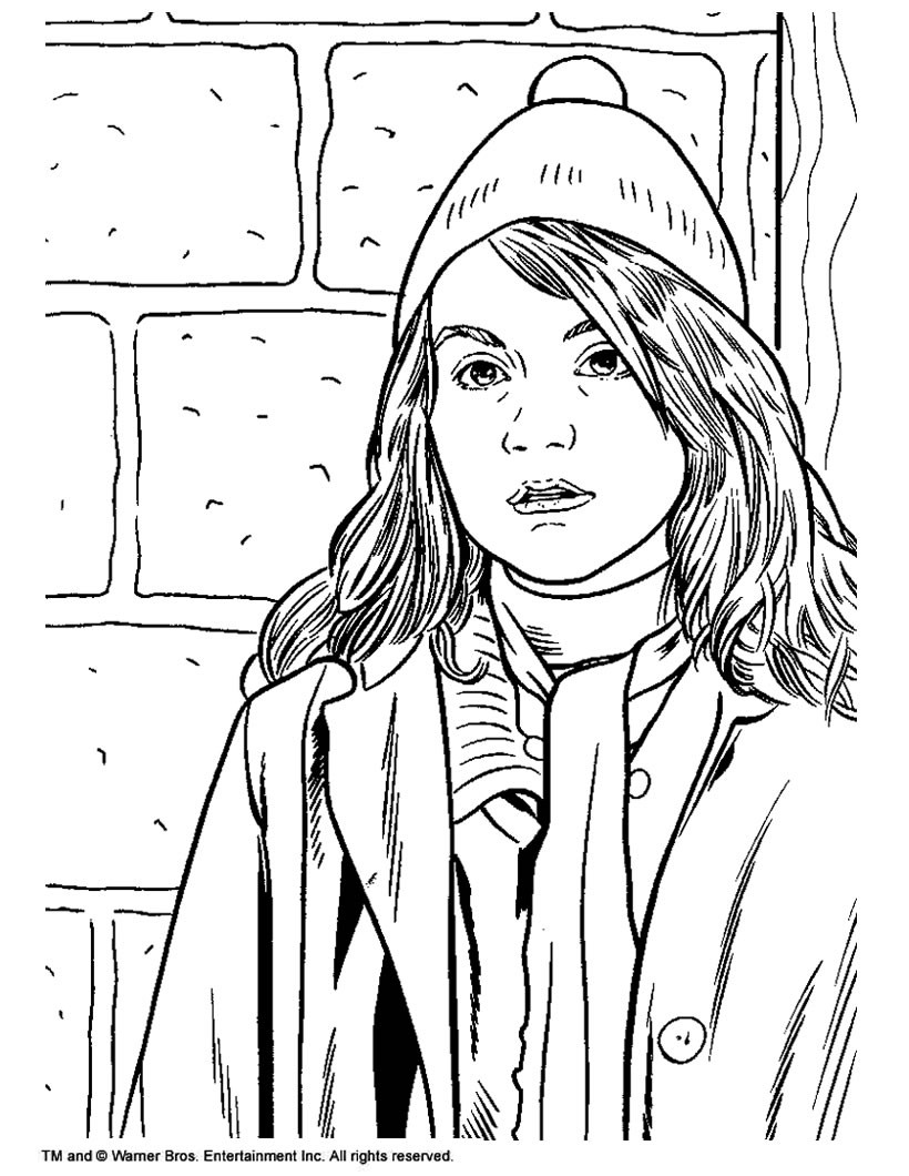 Hermione Granger Coloring Pages  Hermione granger coloring pages Hellokids