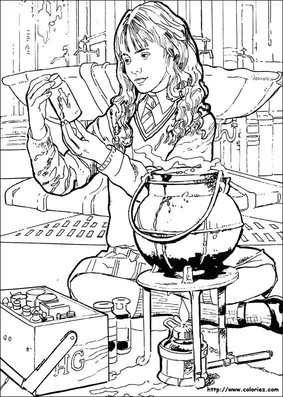 Hermione Granger Coloring Pages  COLORIAGE La potion d Hermione