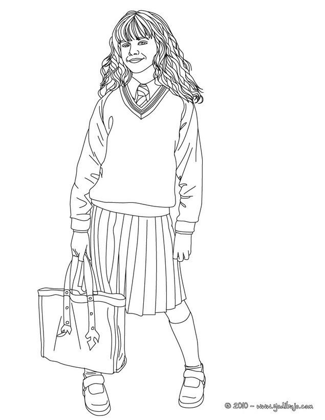 Hermione Granger Coloring Pages  Dibujos para colorear emma watson en hermione granger es