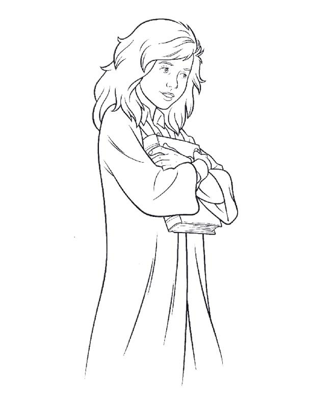 Hermione Granger Coloring Pages  Herimine Granger Free Colouring Pages