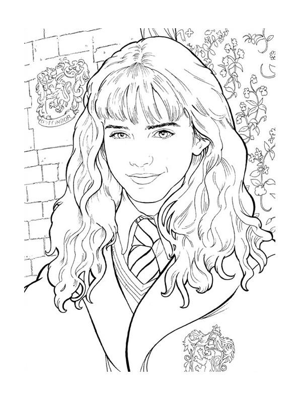 Hermione Granger Coloring Pages  Hermione Granger Harry Potter da colorare disegni da