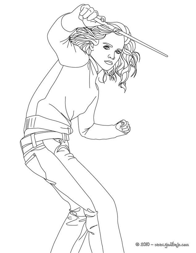 Hermione Granger Coloring Pages  coloring pages hermione