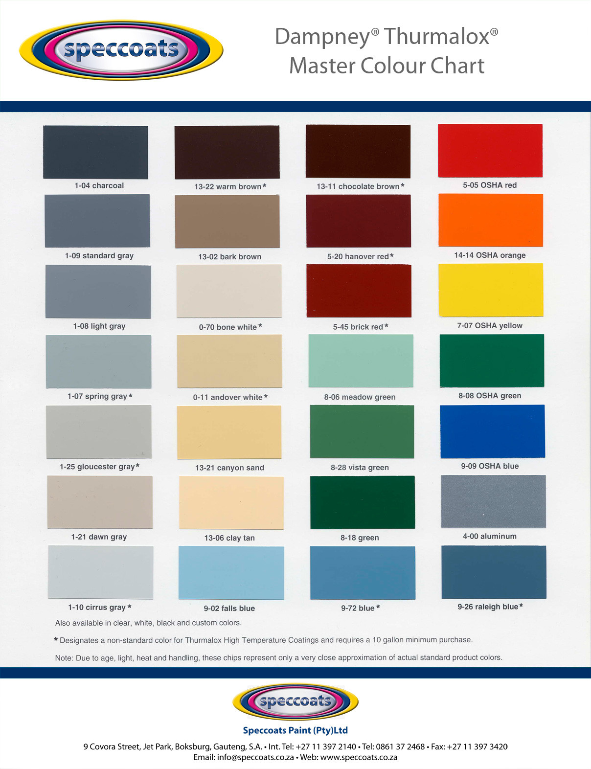 Best ideas about High Heat Paint Colors . Save or Pin 6 Best of Cardinal Powder Coating Color Chart Now.