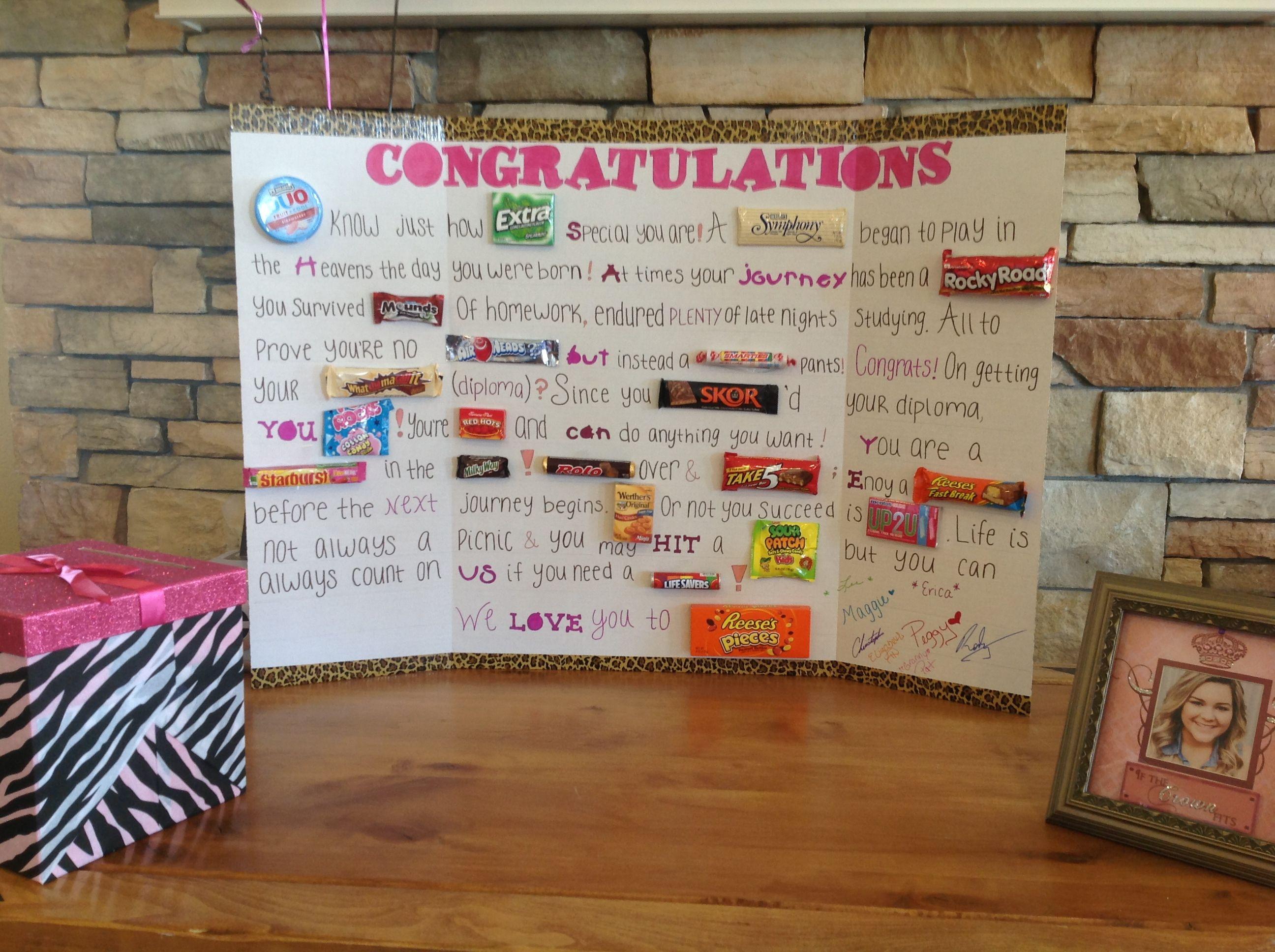 High School Graduation Gift Ideas For Son  Graduation Candy Gram Parties