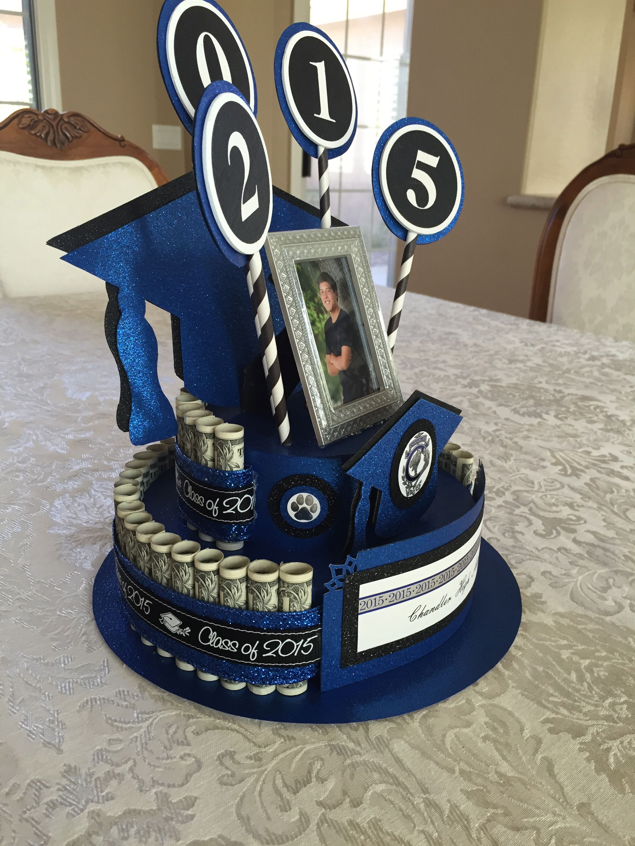 High School Graduation Gift Ideas For Son  Graduation Money Cake Becky s Creations