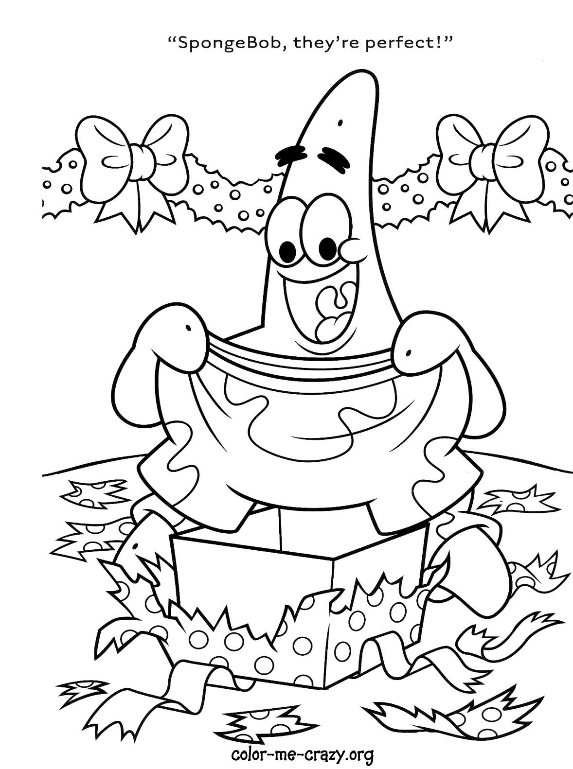 Holiday Coloring Pages For Kids  Spongebob Christmas Printable Coloring Pages – Happy Holidays