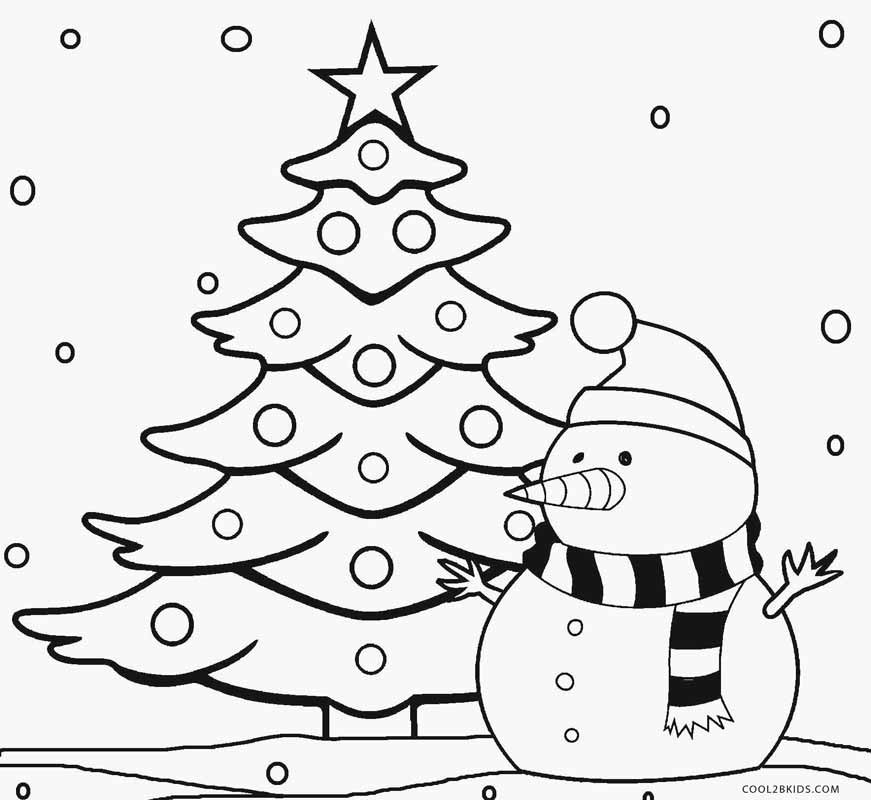 Holiday Coloring Pages For Kids  Printable Christmas Tree Coloring Pages For Kids