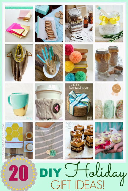 Holiday Crafts Gift Ideas  Top 20 DIY Holiday Gift Ideas