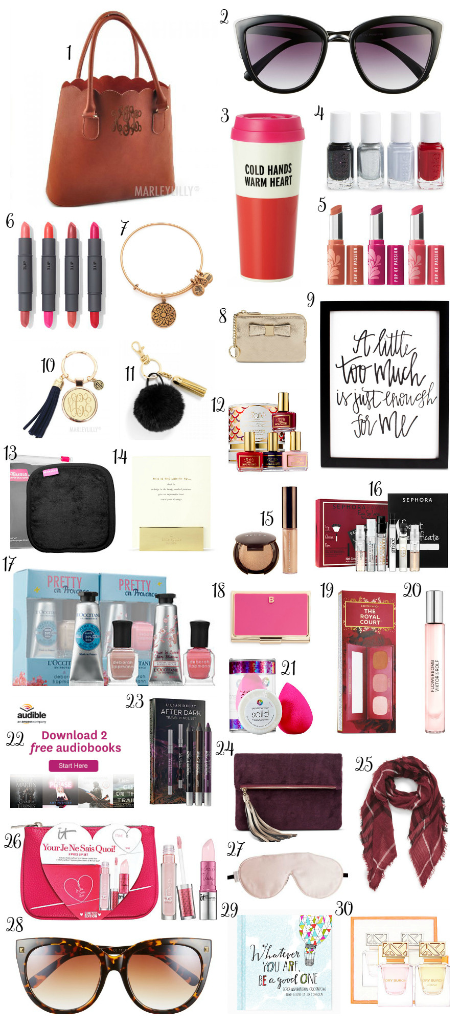 Holiday Gift Ideas For Woman  Christmas Gift Ideas under $30