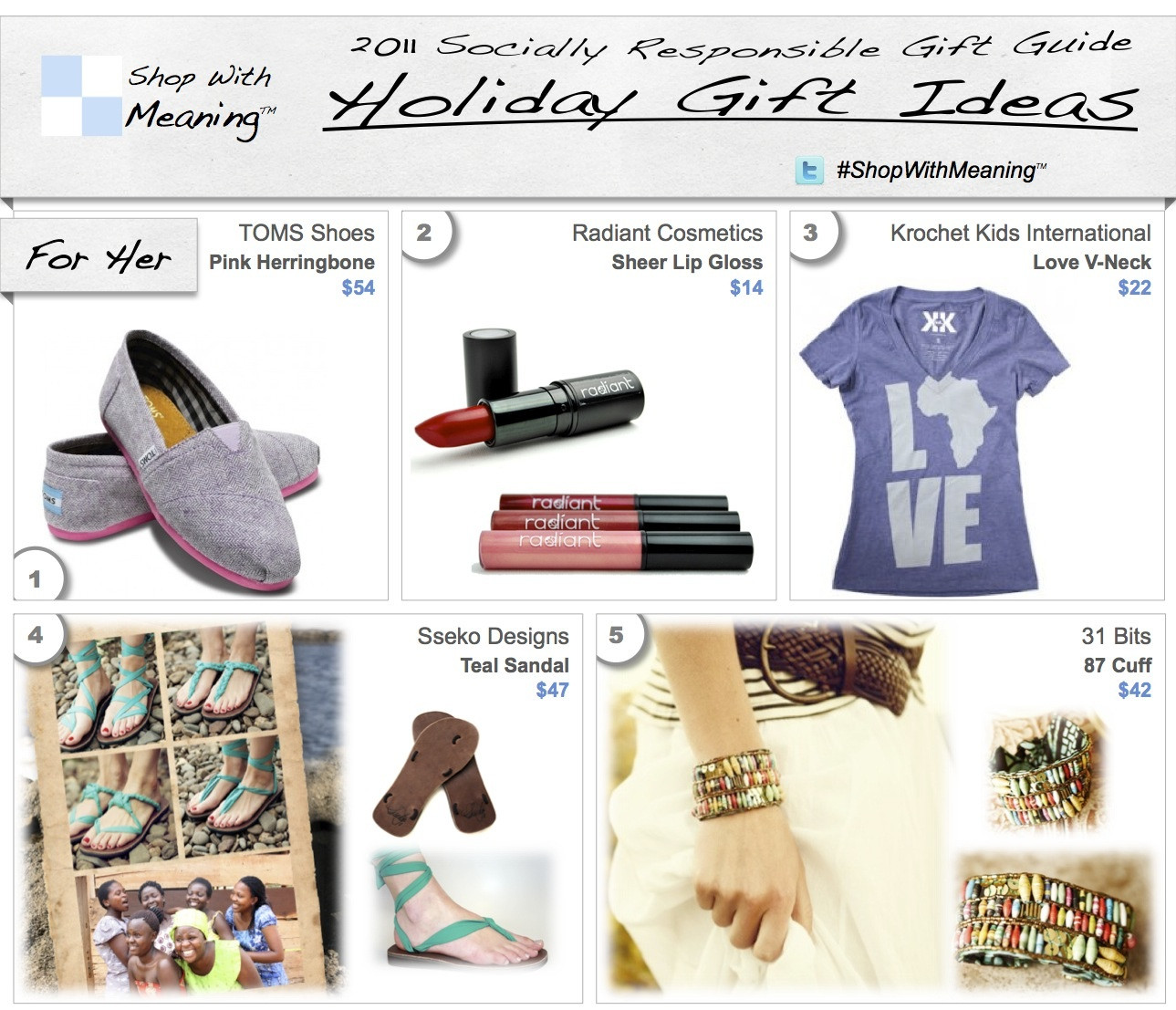 Holiday Gift Ideas For Woman  Christmas Gift Ideas Socially Responsible Christmas Gifts