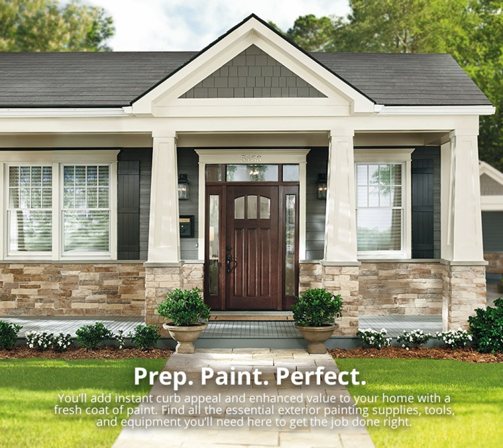 Best ideas about Home Depot Exterior Paint Colors . Save or Pin Exterior Home Exterior Paint Color And Trim At The Home Now.