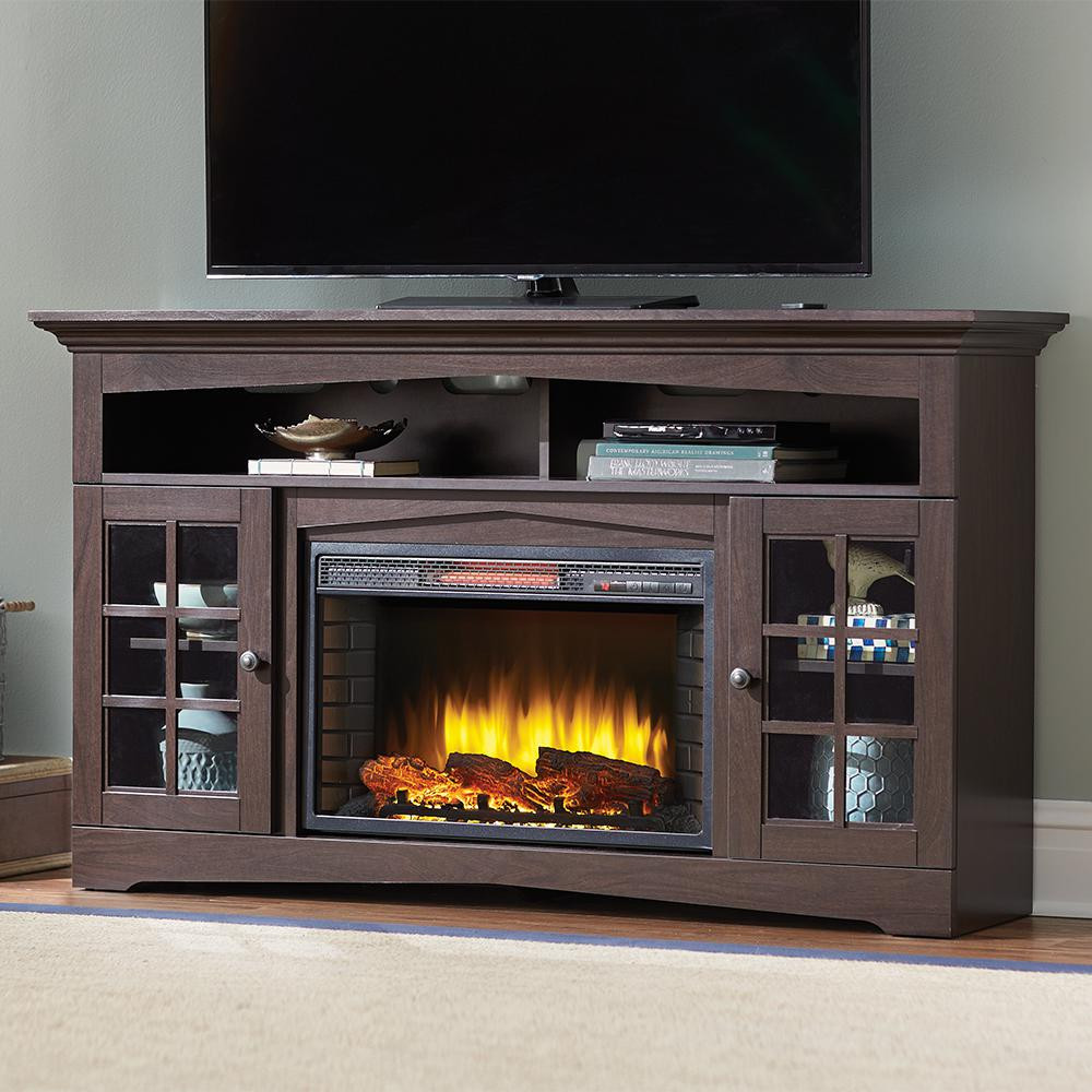 Best ideas about Home Depot Fireplace Tv Stand . Save or Pin Home Decorators Collection Avondale Grove 59 in TV Stand Now.