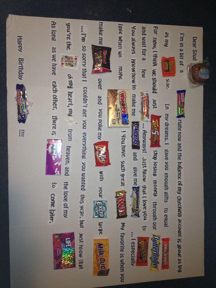 Homemade Birthday Gift Ideas For Boyfriend  182 best images about Boyfriend Birthday on Pinterest
