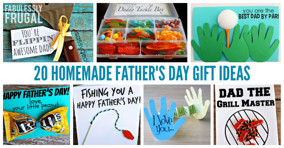 Best ideas about Homemade Fathers Day Gift Ideas . Save or Pin 20 Easy Homemade Father s Day Card Ideas and Gift Ideas Now.