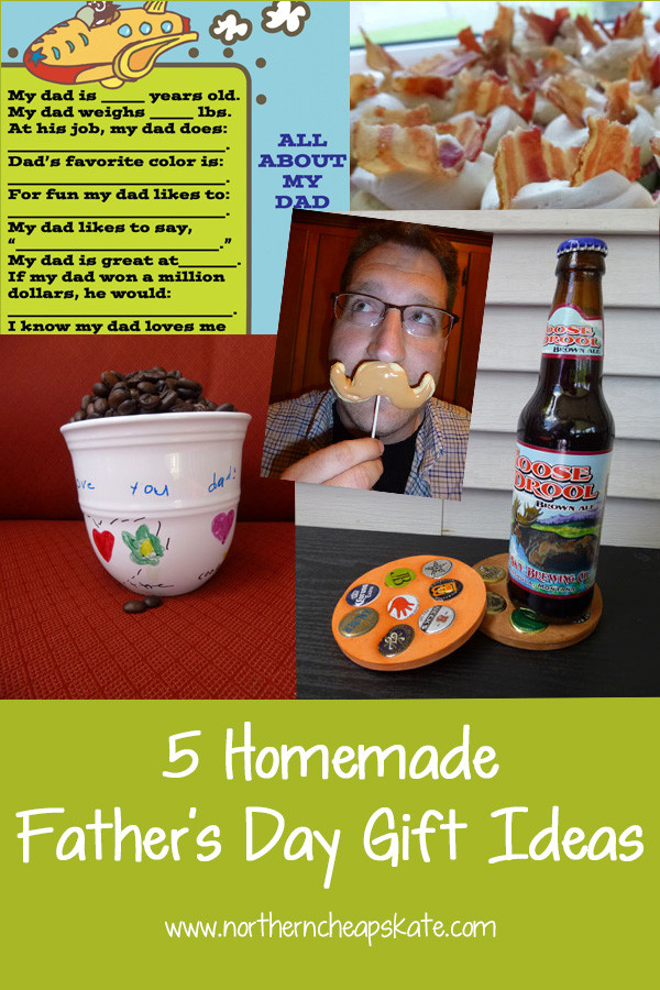 Best ideas about Homemade Fathers Day Gift Ideas . Save or Pin 5 Homemade Father s Day Gift Ideas Now.