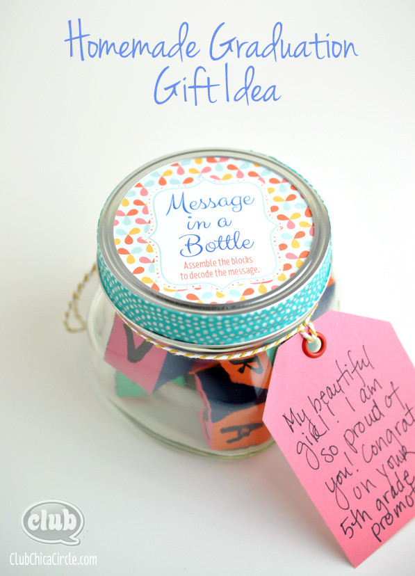 Best ideas about Homemade Graduation Gift Ideas . Save or Pin Message in a Bottle Homemade Graduation Gift Idea Now.