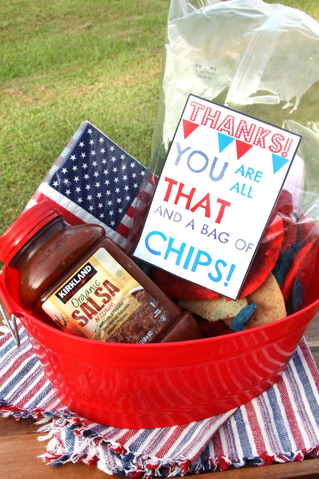 Homemade Thank You Gift Basket Ideas  For the Love of Food Chip and Dip Thank You Basket