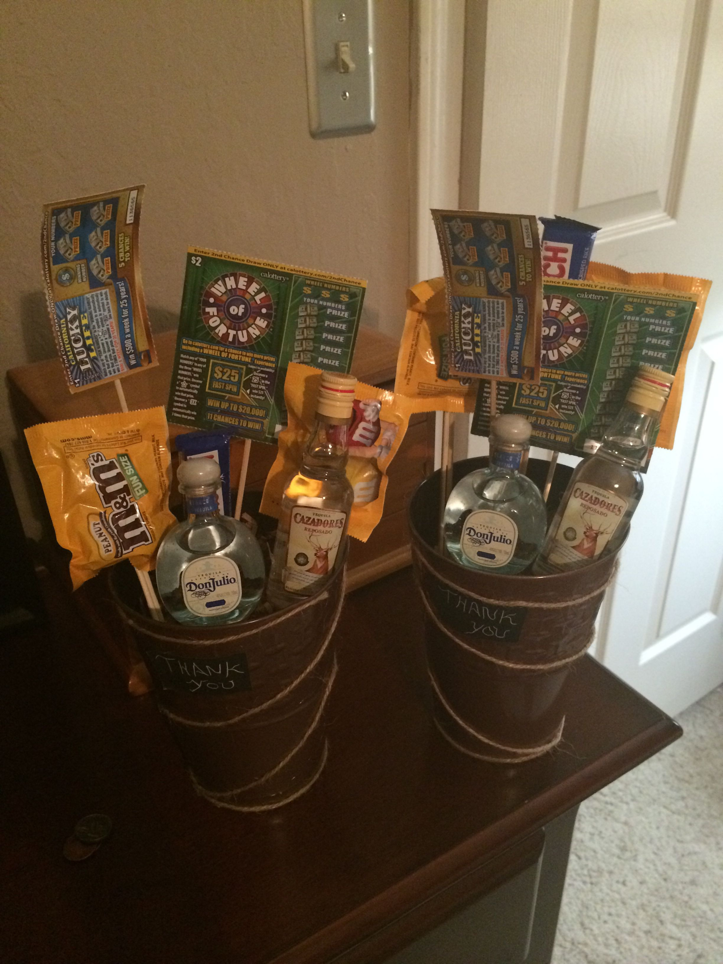 Homemade Thank You Gift Basket Ideas  Thank you t basket for men DIY Pinterest