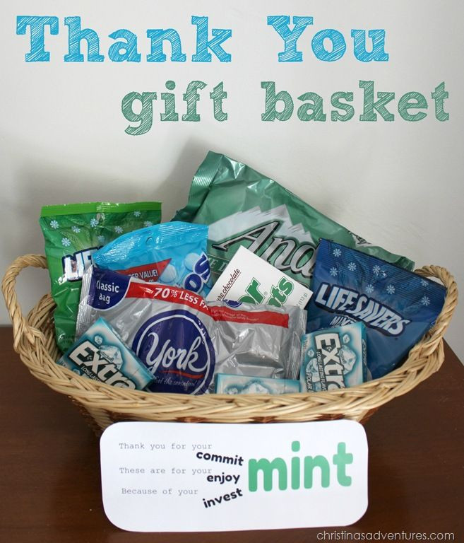Homemade Thank You Gift Basket Ideas  Thank you t basket
