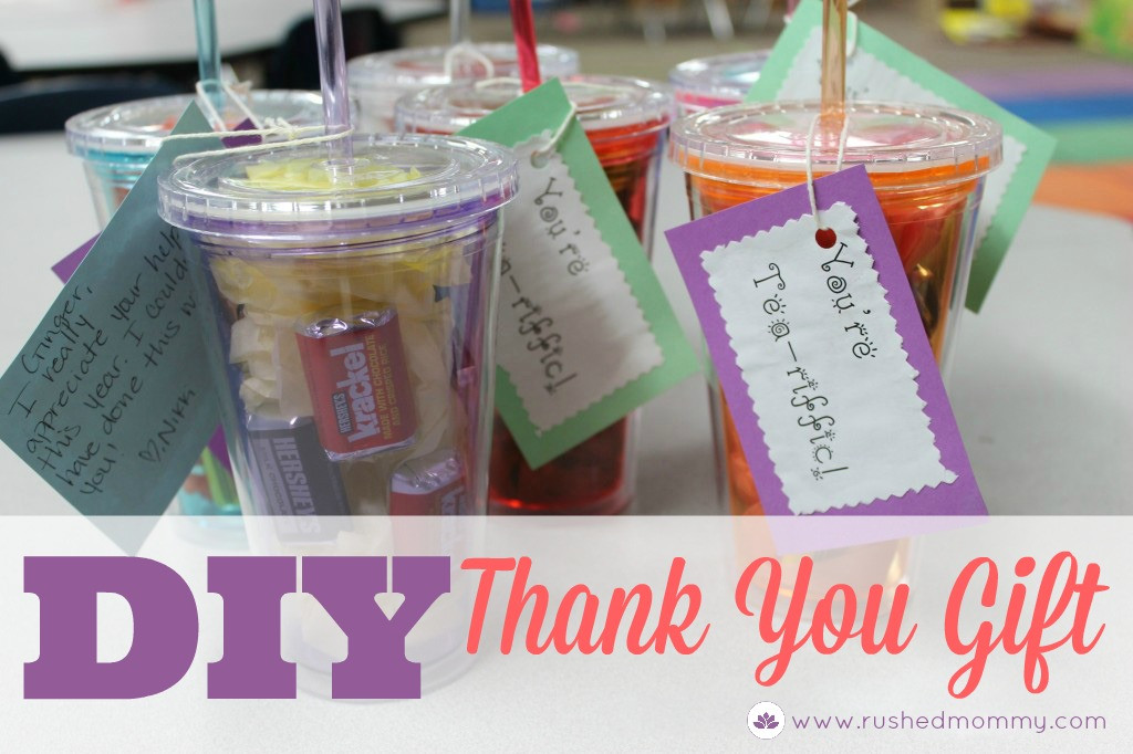 Best ideas about Homemade Thank You Gift Ideas . Save or Pin DIY Thank You Gift for Classroom Volunteers Simply Sweet Days Now.