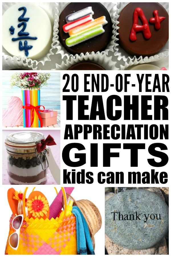 Best ideas about Homemade Thank You Gift Ideas . Save or Pin 20 DIY teacher appreciation ts kids can make Now.