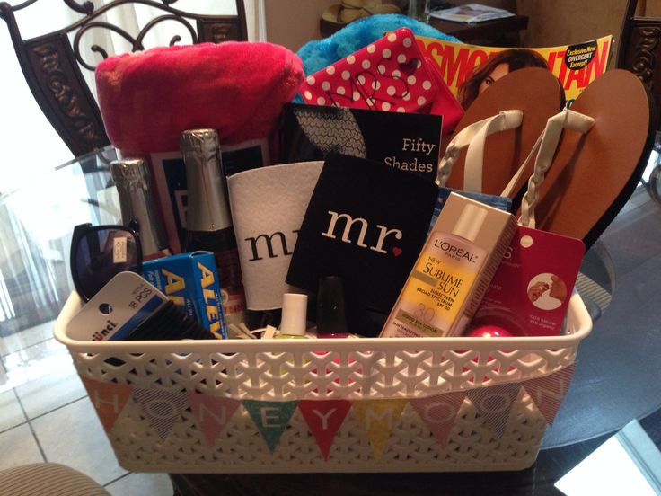 Best ideas about Honeymoon Gift Basket Ideas . Save or Pin 17 Best images about Honeymoon basket on Pinterest Now.