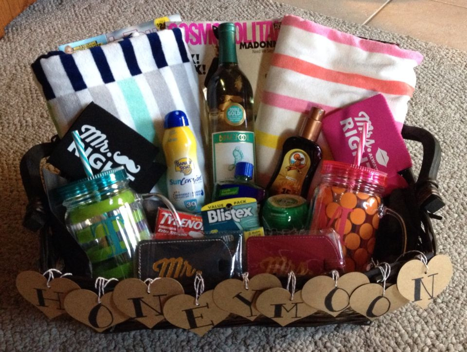 Best ideas about Honeymoon Gift Basket Ideas . Save or Pin Honeymoon t basket Made this for my cousin she loved Now.