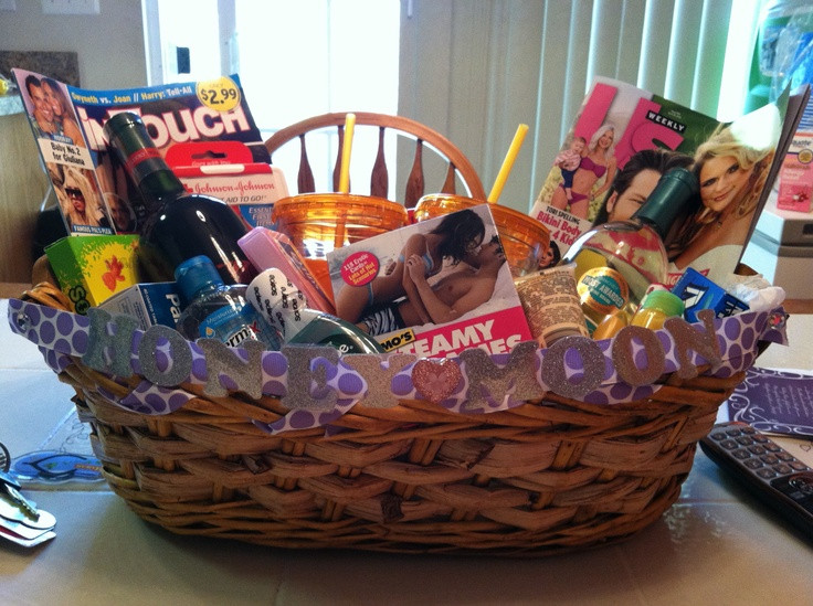 Best ideas about Honeymoon Gift Basket Ideas . Save or Pin 17 Best images about bridal t baskets on Pinterest Now.