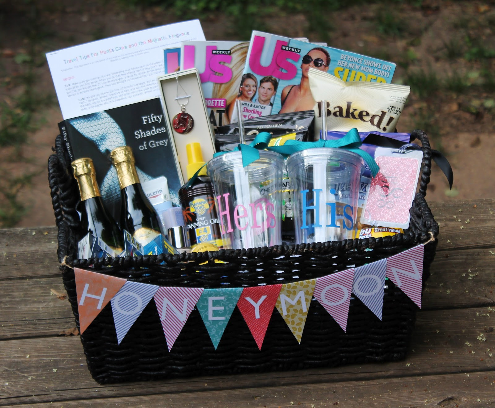 Best ideas about Honeymoon Gift Basket Ideas . Save or Pin Honeymoon Gift Basket Carolina Charm Now.