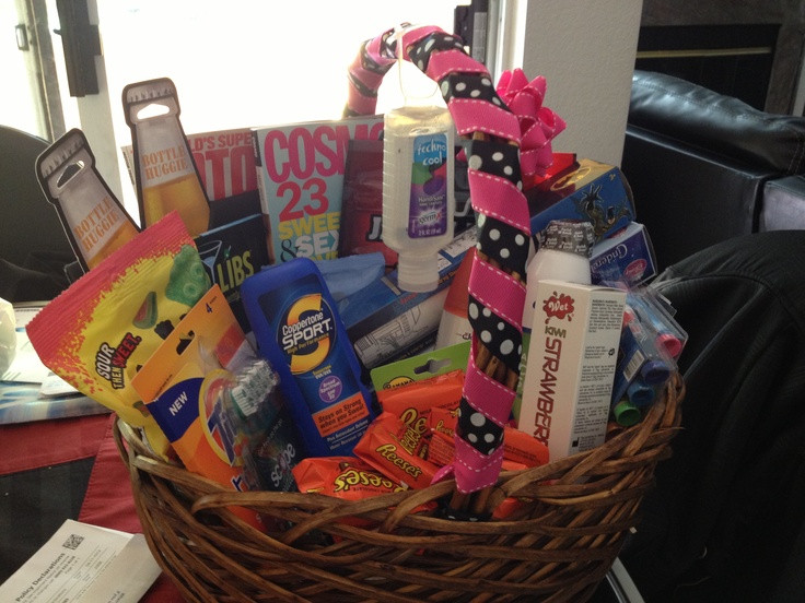 Best ideas about Honeymoon Gift Basket Ideas . Save or Pin Honeymoon basket Gift ideas Now.