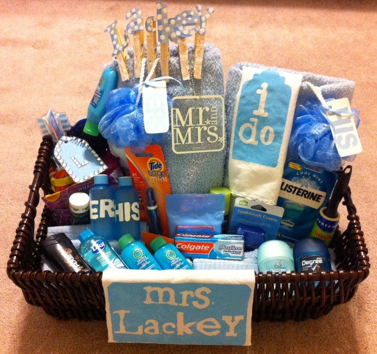 Best ideas about Honeymoon Gift Basket Ideas . Save or Pin Wedding Night Gift Basket Now.