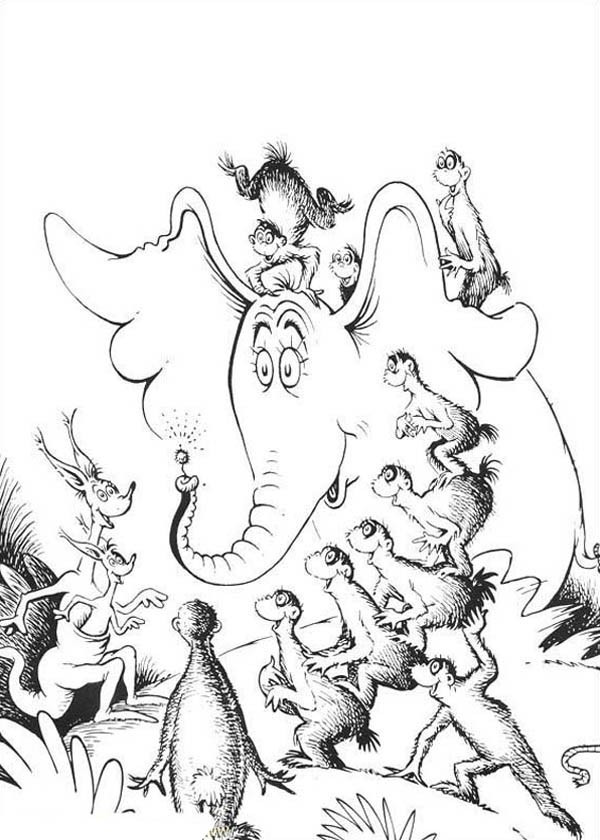 Horton Hears A Who Free Coloring Pages  Horton Hears A Who Coloring Page Coloring Home