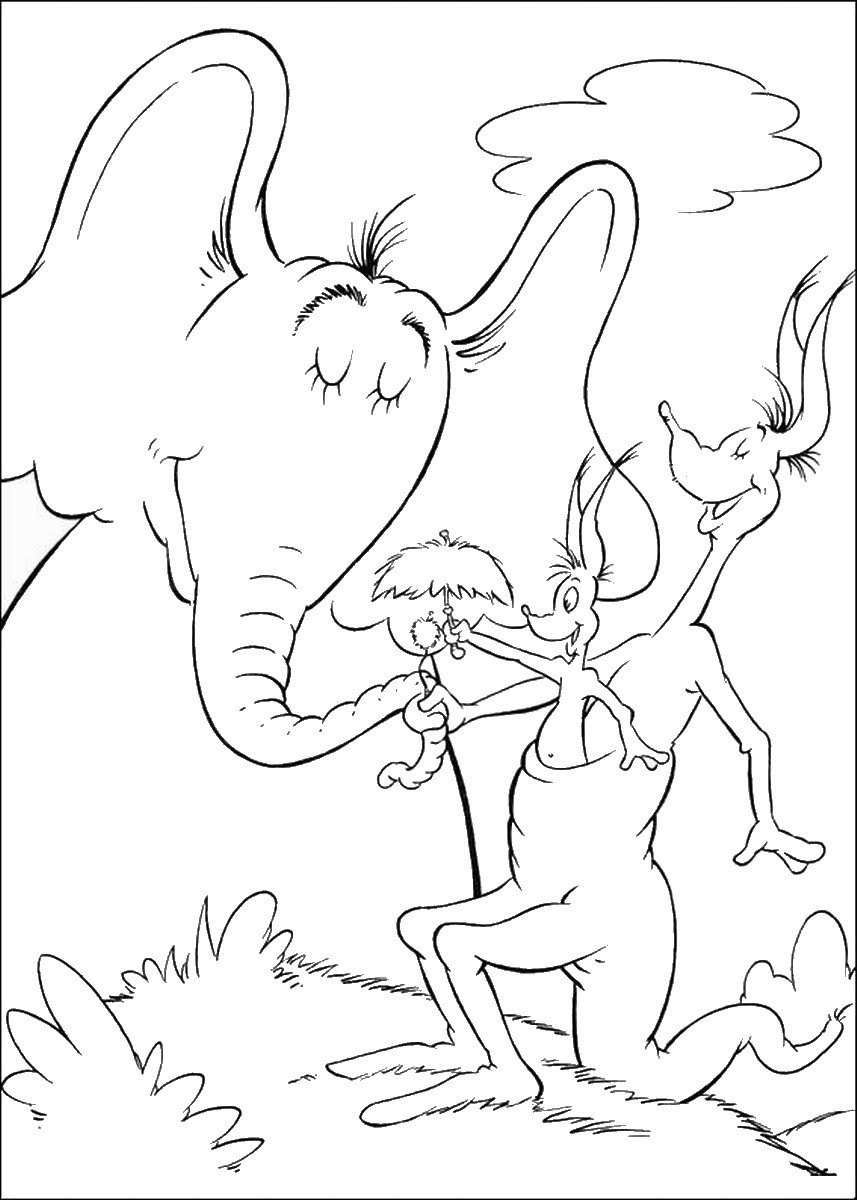 Horton Hears A Who Free Coloring Pages  Horton Hears a who Coloring Pages