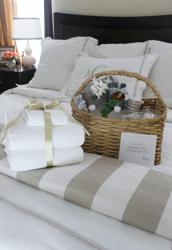 Houseguest Thank You Gift Ideas  Best 25 Guest wel e baskets ideas on Pinterest