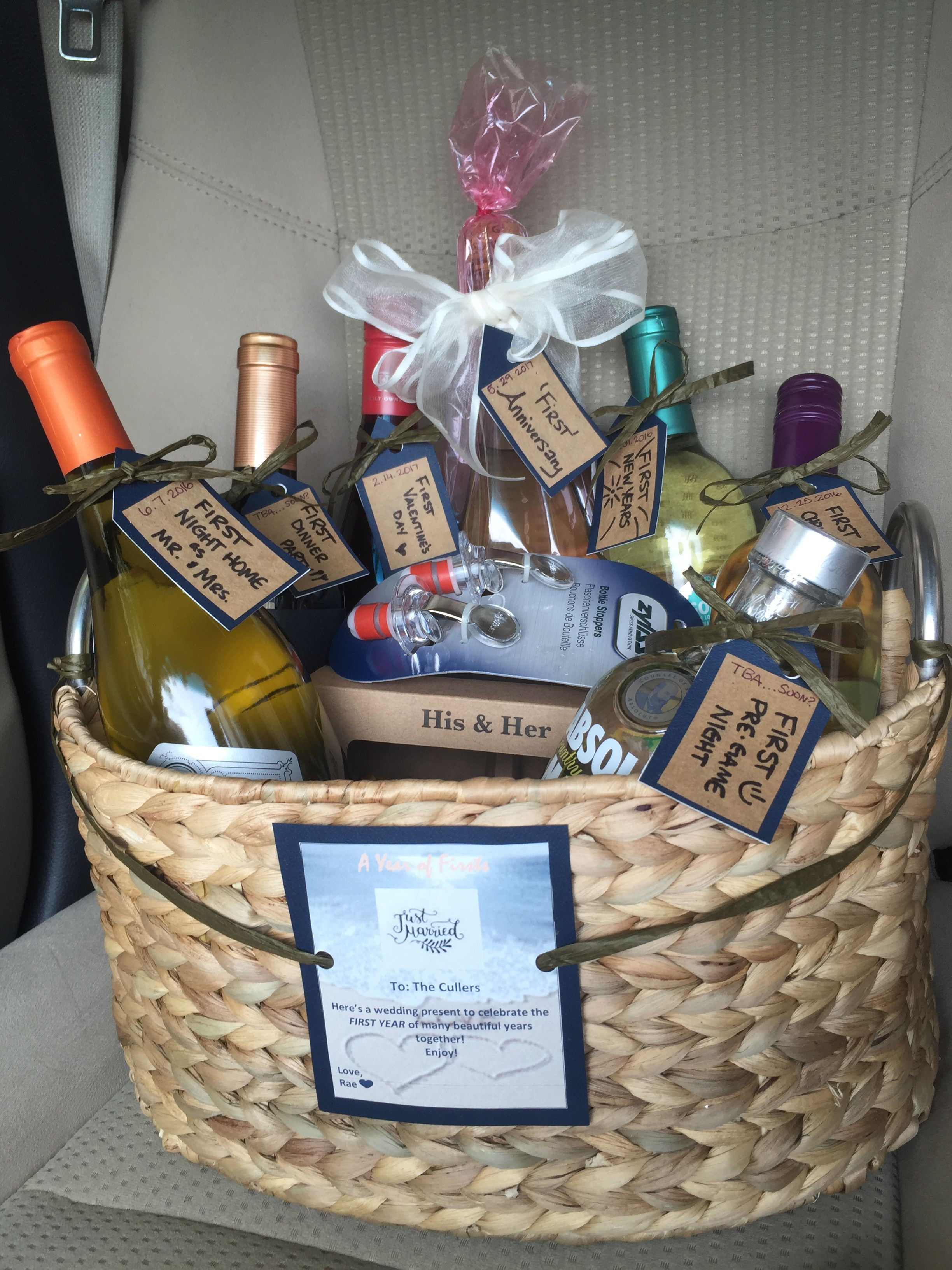 Best ideas about Housewarming Gift Ideas For Couple . Save or Pin A year of firsts The BEST and easiest wedding present for Now.