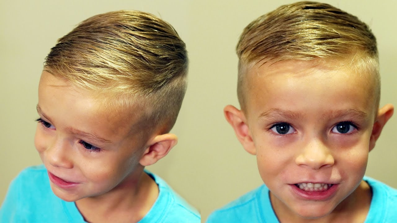 Best ideas about How To Cut A Toddler Boys Hair . Save or Pin HOW TO CUT BOYS HAIR Trendy boys haircut tutorial Now.