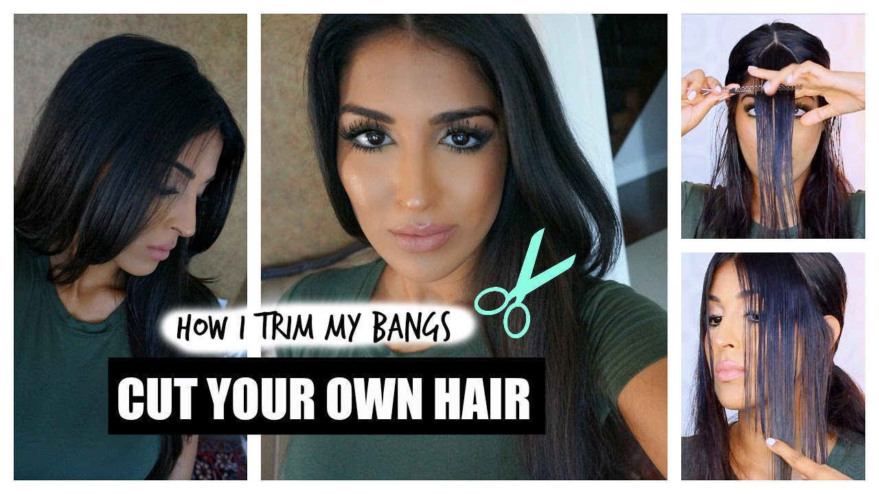 Best ideas about How To Cut Layers In Long Hair Yourself . Save or Pin How to Cut Your Own Hair Bangs Now.