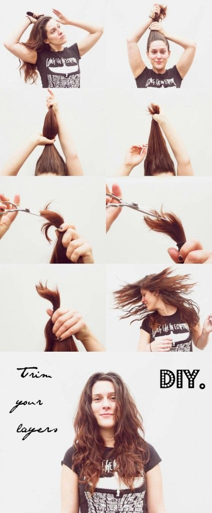 Best ideas about How To Cut Layers In Long Hair Yourself . Save or Pin How To Cut Your Own Layers Now.