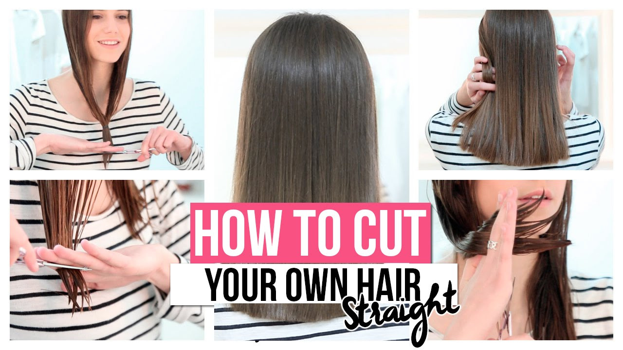 Best ideas about How To Cut Layers In Long Hair Yourself . Save or Pin HOW TO CUT YOUR OWN HAIR STRAIGHT Now.