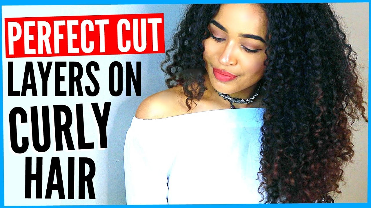 Best ideas about How To Cut Layers In Long Hair Yourself . Save or Pin DIY LAYERED HAIRCUT ON CURLY HAIR How to Cut Curly Hair Now.