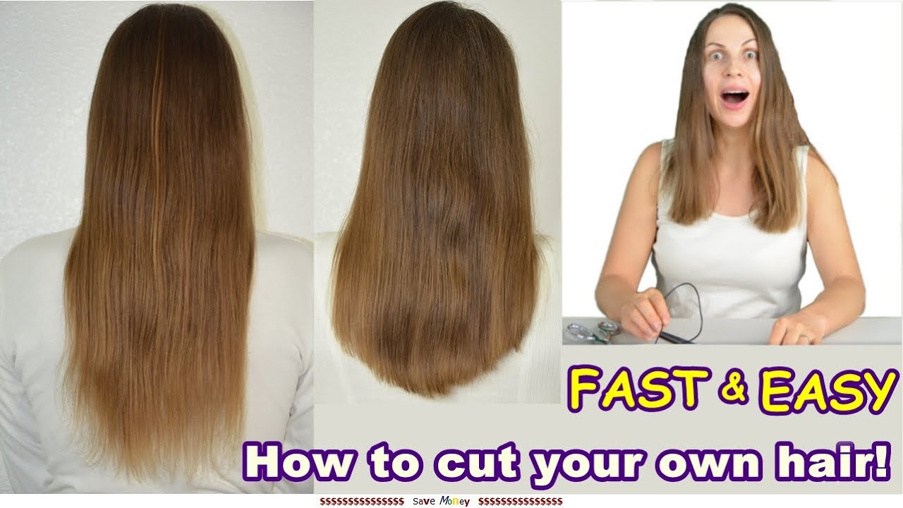 Best ideas about How To Cut Layers In Long Hair Yourself . Save or Pin Funny Easy Way to Cut Your Own Hair Cutting Long Hair U Now.
