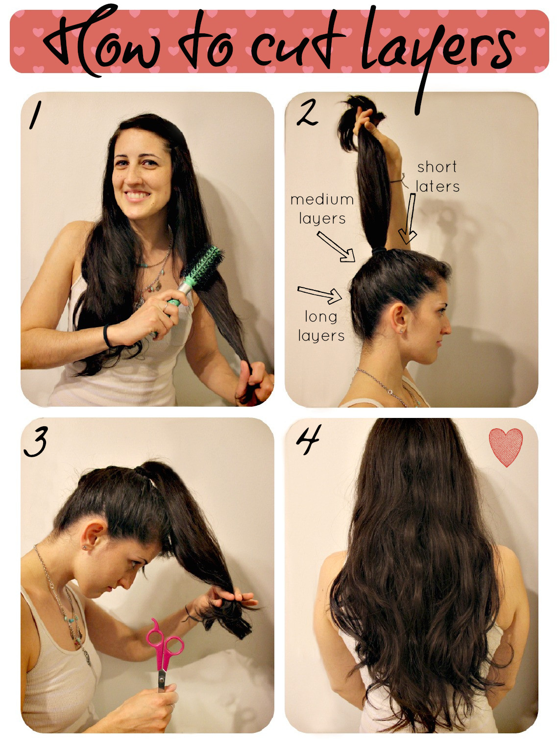 Best ideas about How To Cut Layers In Long Hair Yourself . Save or Pin How To Cut Layers Now.