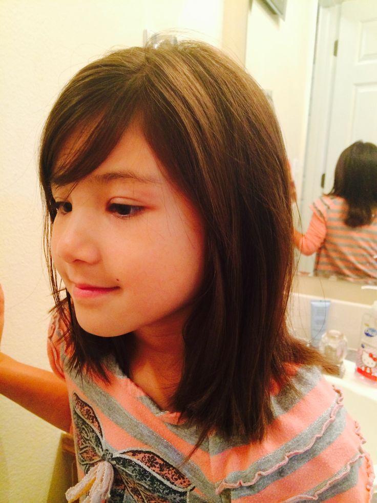 How To Cut Little Girl Hair  Medium length Little girl hair cut