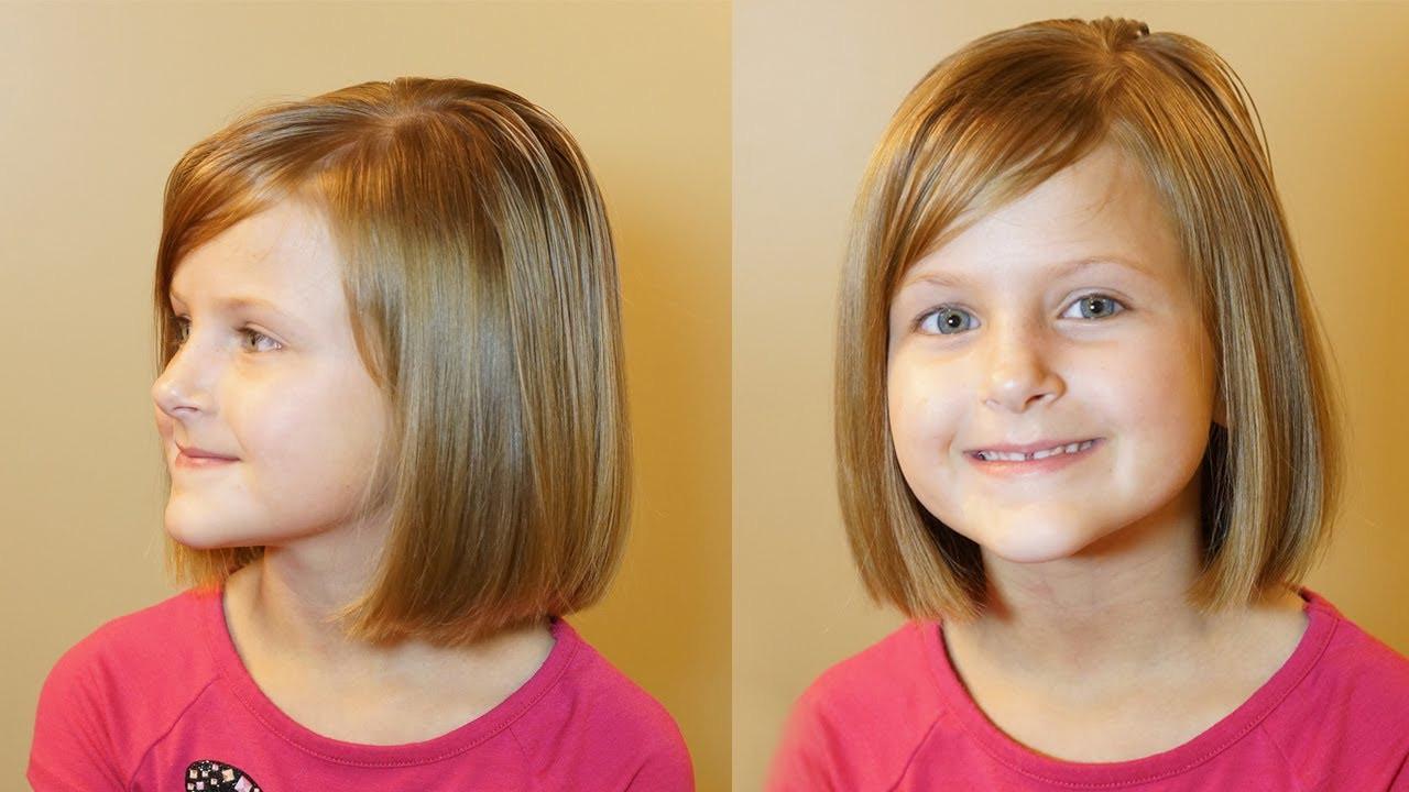 How To Cut Little Girl Hair  How to do a Bob Cut Short Hair Tutorial Girls