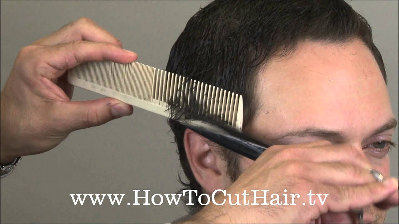 Best ideas about How To Cut Mens Long Hair With Scissors . Save or Pin How To Cut Men s Hair Scissor Over b Barbering Now.