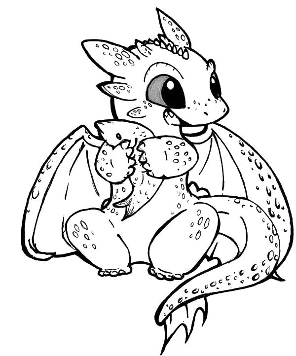 Best ideas about How To Train Your Dragon Coloring Sheets For Girls . Save or Pin Chibi Toothless Eat Fish In How To Train Your Dragon Now.