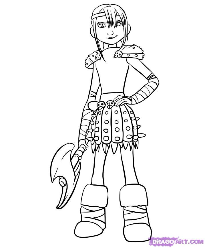 Best ideas about How To Train Your Dragon Coloring Sheets For Girls . Save or Pin Step 6 How to Draw Astrid Now.