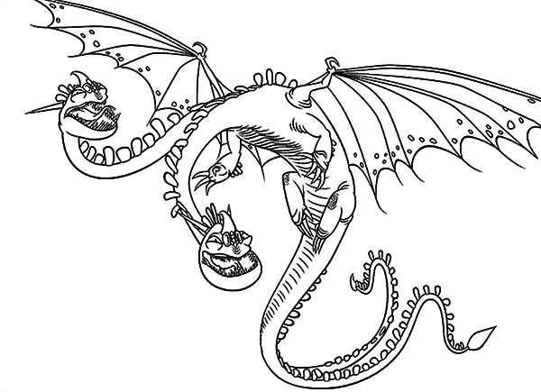 Best ideas about How To Train Your Dragon Coloring Sheets For Girls . Save or Pin Zippleback Twin Heads Dragon in How to Train Your Dragon Now.