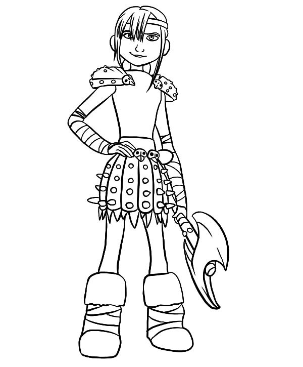 Best ideas about How To Train Your Dragon Coloring Sheets For Girls . Save or Pin Viking Lady Warrior Astrid In How To Train Your Dragon Now.